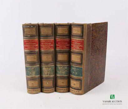 BARRAL & SAGNIER - Dictionnaire d'agriculture,...
