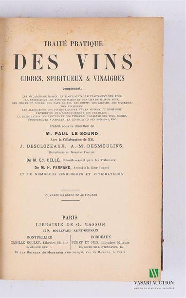 LE SOURD Paul - Traité pratique des vins,...