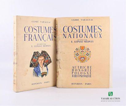 VARAGNAC André - Costumes nationaux, Autriche,...