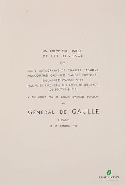 DE GAULLE Charles - Un exemplaire unique...