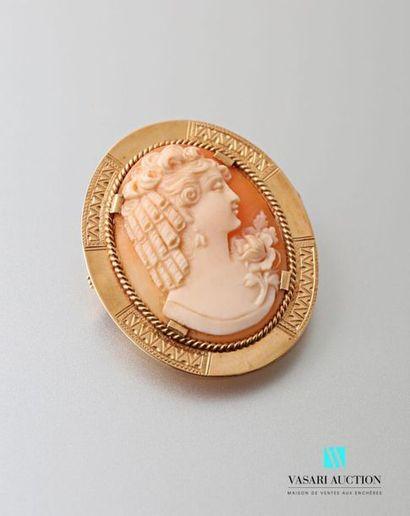 Broche faisant pendentif, en or jaune 750...