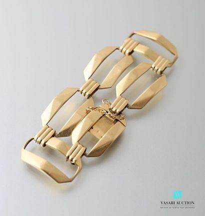 Bracelet souple en or jaune 750 millièmes...