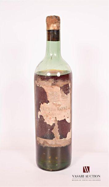 1 bouteilleChâteau DE RAYNE VIGNEAUSauternes...