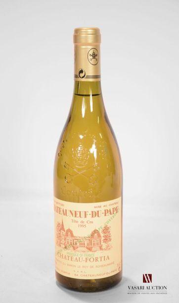 1 bouteilleCHATEAUNEUF DU PAPE blanc mise...