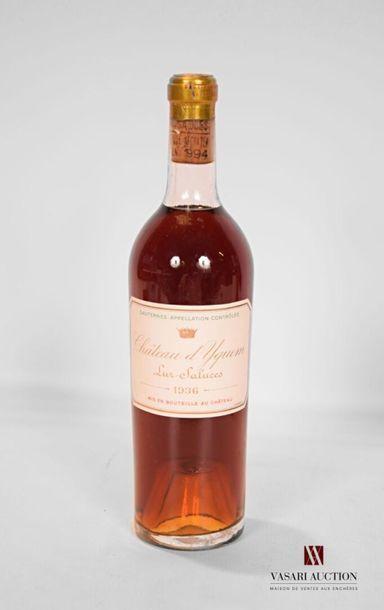 1 bouteilleChâteauD'YQUEM1er Cru Sup Sauternes1936...