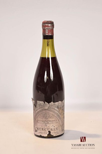 1 bouteilleMERCUREY mise Jaffelin Frères...