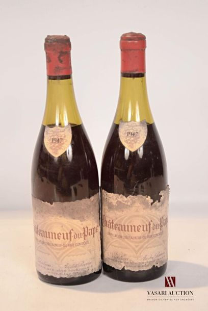 2 bouteillesCHATEAUNEUF DU PAPE
