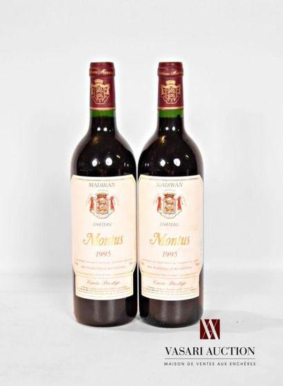 2 bouteillesMADIRAN mise Château Montus...