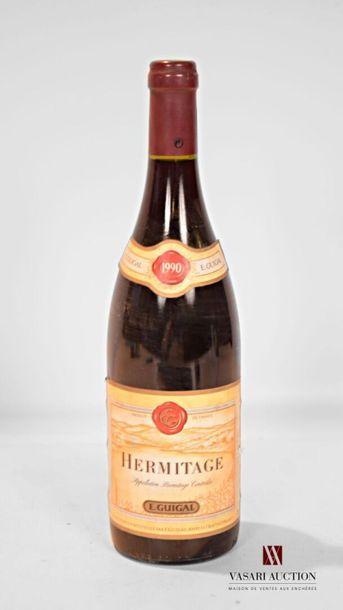 1 bouteilleHERMITAGE mise Guigal1990 Et....