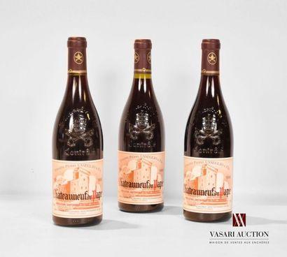 3 bouteillesCHATEAUNEUF DU PAPE mise Dom....