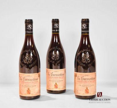 3 bouteillesCHATEAUNEUF DU PAPE