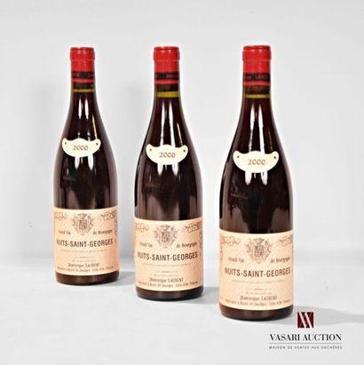 3 bouteillesNUITS ST GEORGES mise Dominique...