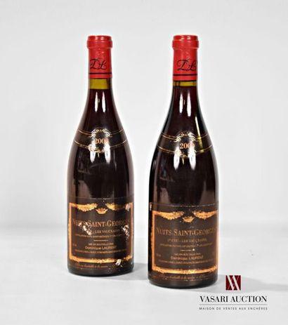 2 bouteillesNUITS ST GEORGES 1er Cru