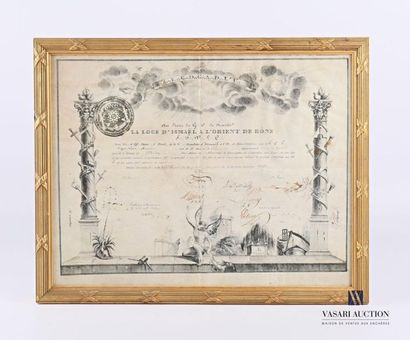 Certificat maçonnique imprimé de la loge...