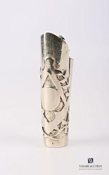 Support de briquet de forme tubulaire à décor...