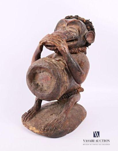 BOULU - GABON Fétiche figurant un singe stylisé...