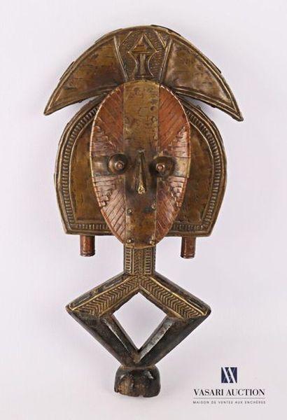 KOTA - GABON Reliquaire en métal repoussé...