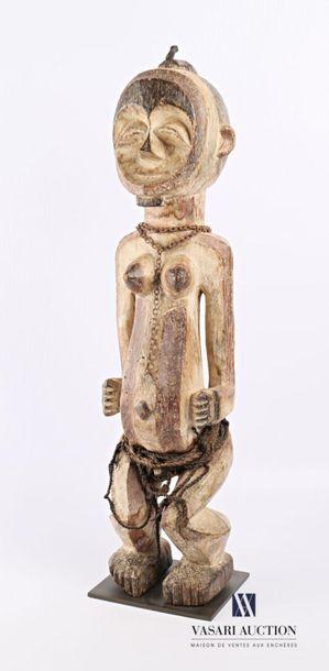MAHONGWE - GABON Fétiche de femme en bois...