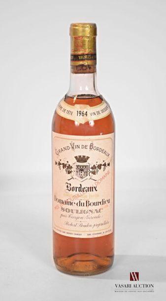 1 bouteilleDOMAINE DU BOURDIEUBordeaux...