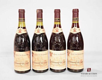 4 bouteillesCHATEAUNEUF DU PAPE Cuvée des...