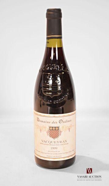 1 bouteilleVACQUEYRAS Domaine des Ondines...