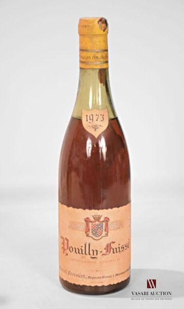 1 bouteillePOUILLY FUISSÉ mise M. Frécourt...