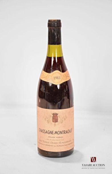 1 bouteilleCHASSAGNE MONTRACHET mise nég.1983...
