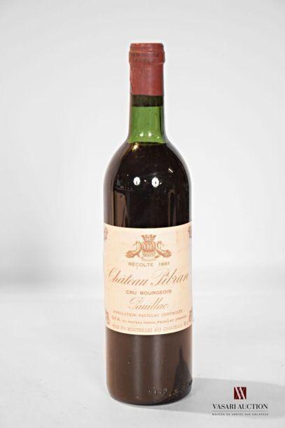 1 bouteilleChâteau PIBRANPauillac CB1981...