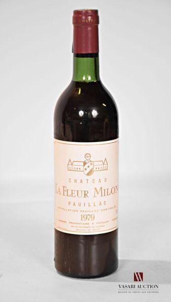 1 bouteilleChâteau LA FLEUR MILONPauillac1979...