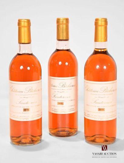 3 bouteillesChâteau BÉCHEREAUSauternes...