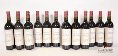 12 bouteillesChâteau HAUTEVILLESt Estèphe2002...