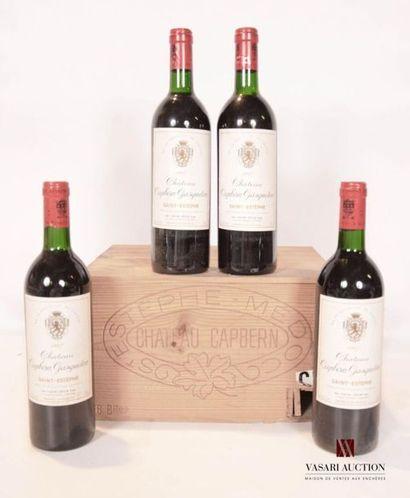 4 bouteillesChâteau CAPBERN GASQUETONSt...