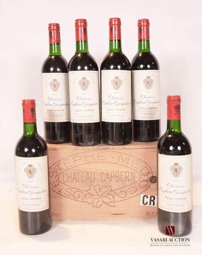 6 bouteillesChâteau CAPBERN GASQUETONSt...