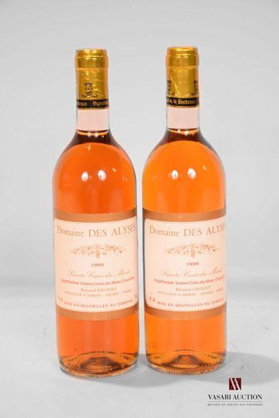 2 bouteillesDOMAINE DES ALYSESSte Croix...
