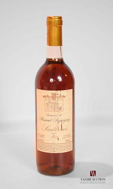 1 bouteilleDOMAINE DU ROUSSET-PEYRAGUEYSauternes1997...