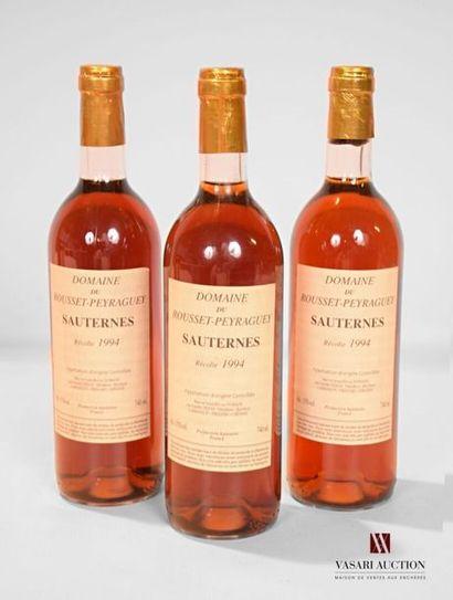 3 bouteillesDOMAINE DU ROUSSET-PEYRAGUEYSauternes1994...