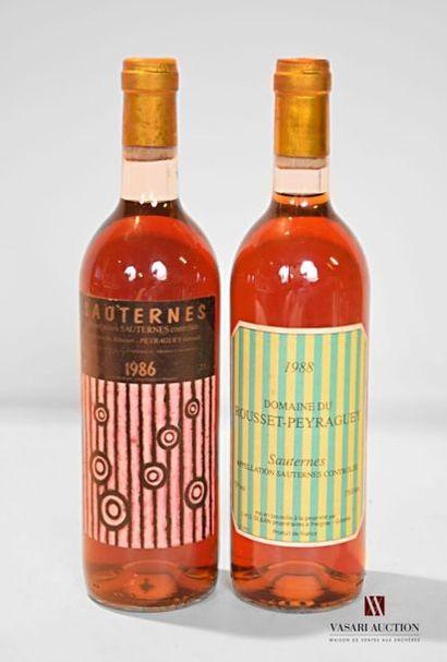 2 bouteillesDOMAINE DU ROUSSET-PEYRAGUEYSauternes...
