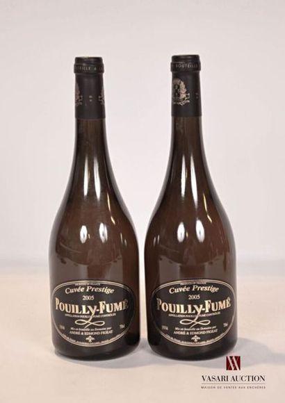 2 bouteillesPOUILLY FUMÉ Cuvée Prestige...