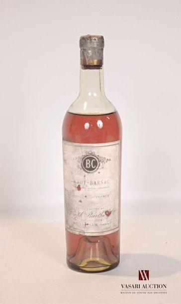 1 bouteilleHAUT BARSAC mise Joseph Barthez...
