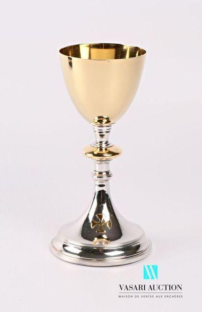 Calice en argent et argent doré 800 millièmes...