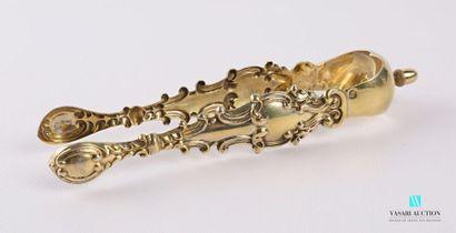 Pince à sucre en argent doré (1819-1838),...