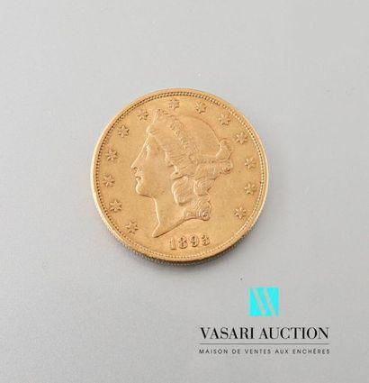 Pièce de 20 dollars américains 1893