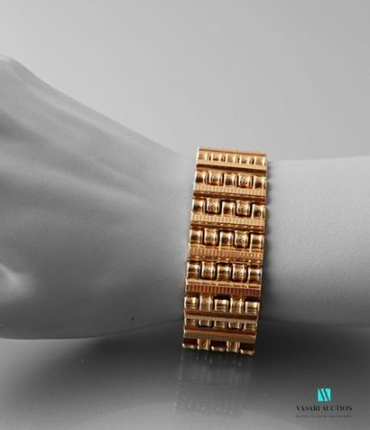 Bracelet ruban en or rose 750 millièmes 40,7...