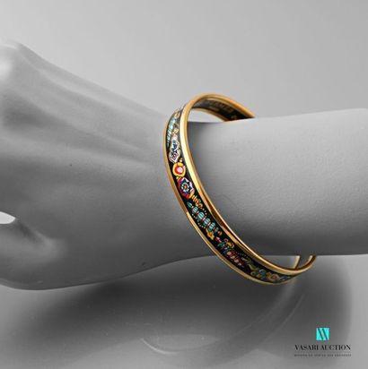HERMES Bracelet demi-jonc en plaqué or à...