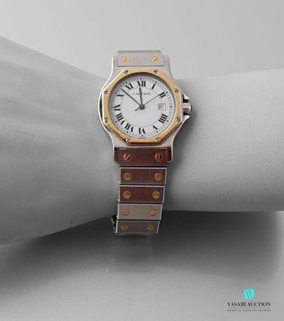 CARTIER Santos, montre bracelet de dame en...