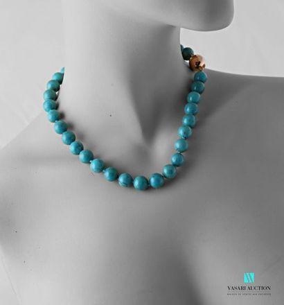Collier en perles de turquoise Arizona de...