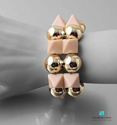 Bracelet sur cordon élastique orné de perles...