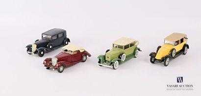 SOLIDO (FRANCE) Lot de quatre véhicules -...