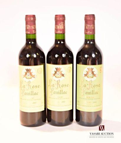 3 bouteillesLA ROSE PAUILLACPauillac mise...