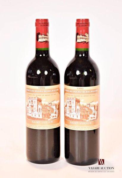 2 bouteillesChâteau DUCRU BEAUCAILLOUSt...